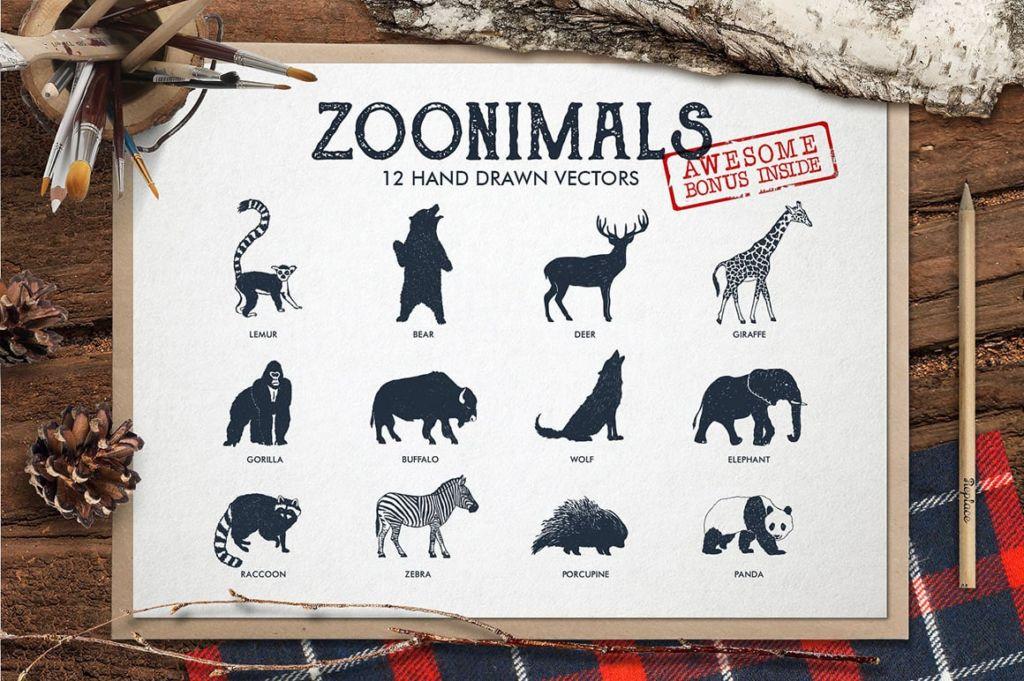 Zoonimals – 12 Hand Drawn Animals