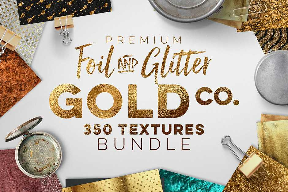 350 Gold Metallic Textures Bundle