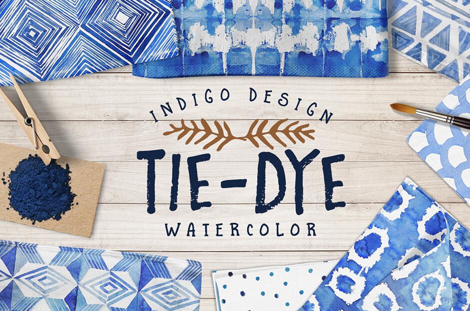Tie Dye Watercolour Patterns Pack