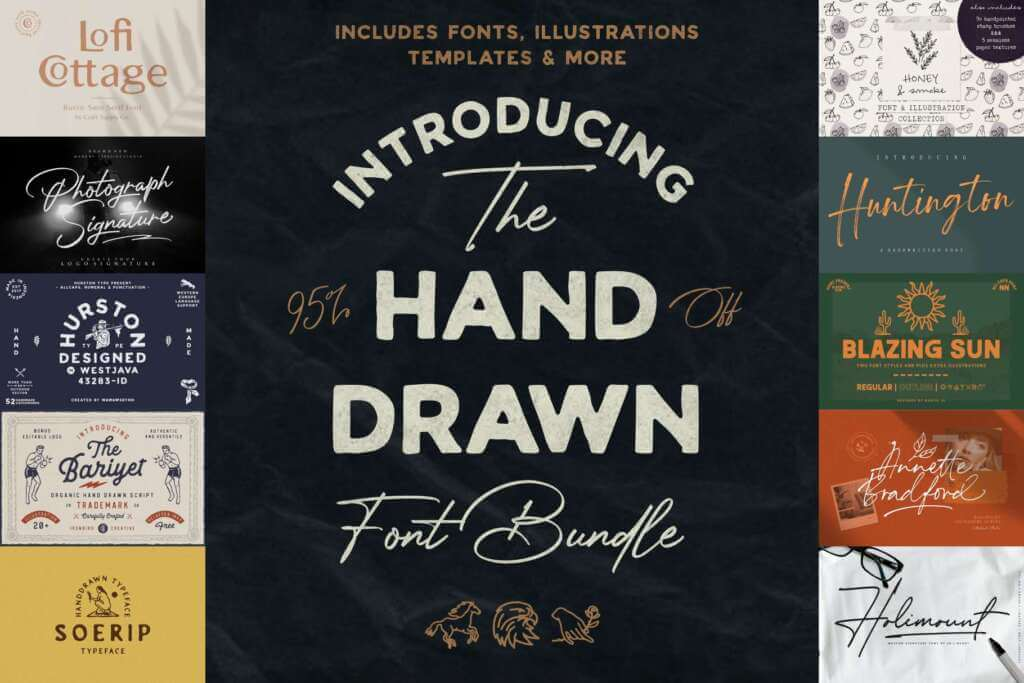 The Hand Drawn Font Bundle