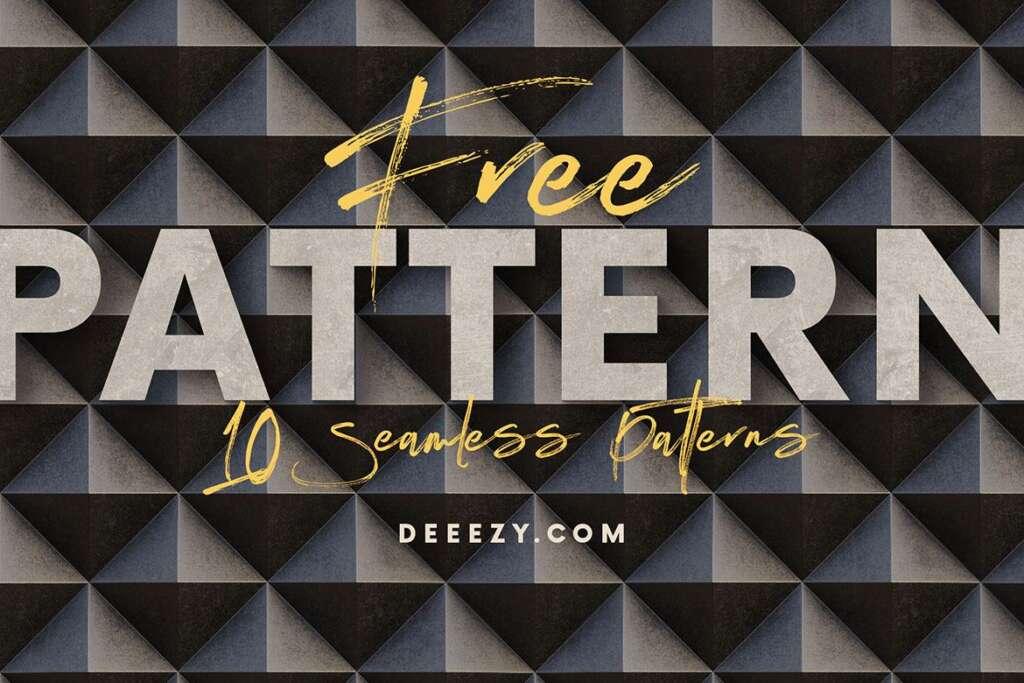 10 Free Seamless Futuristic Patterns