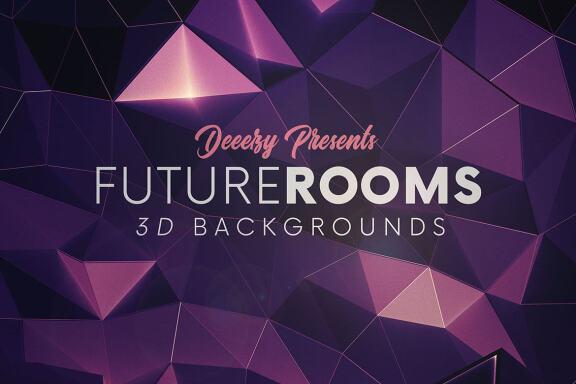 6 Futuristic 3D Room Backgrounds 2