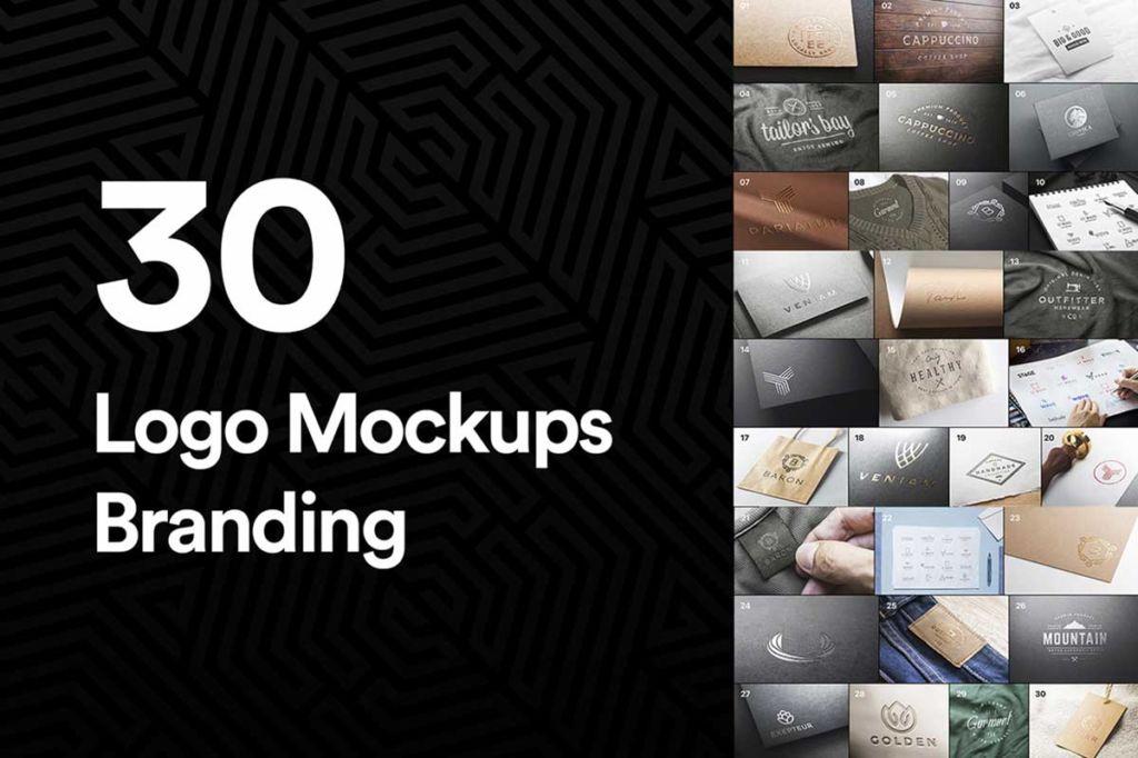 30 Logo Mockups Branding