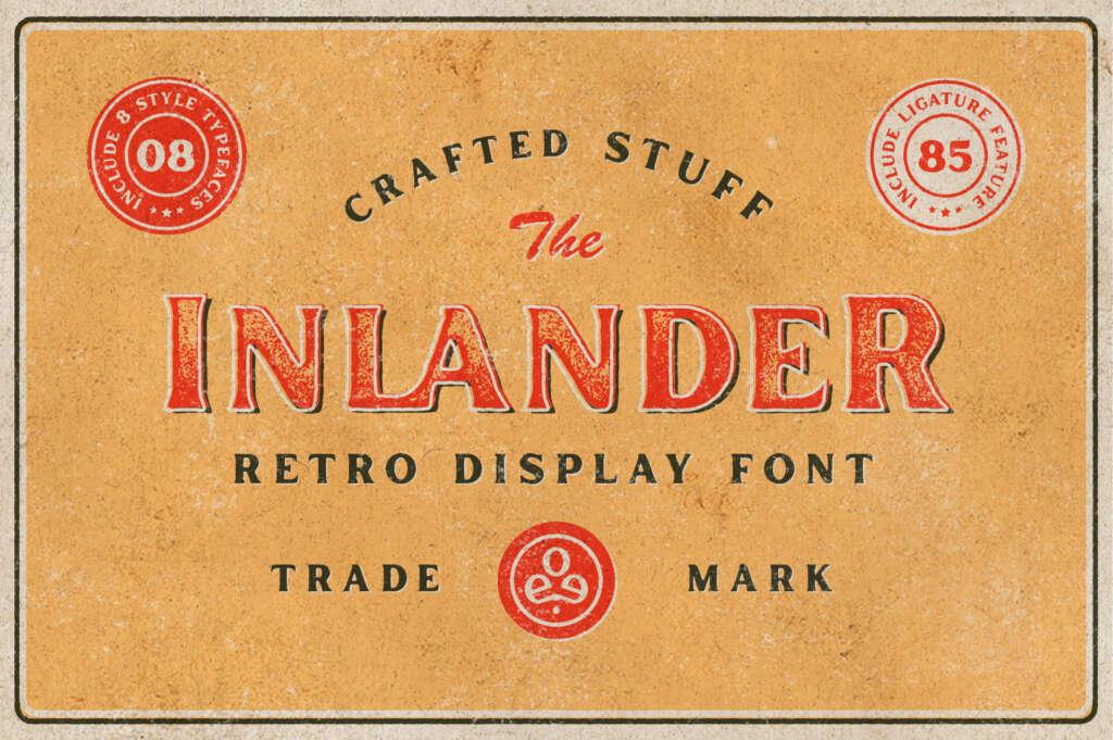 Inlander – Retro Display Font