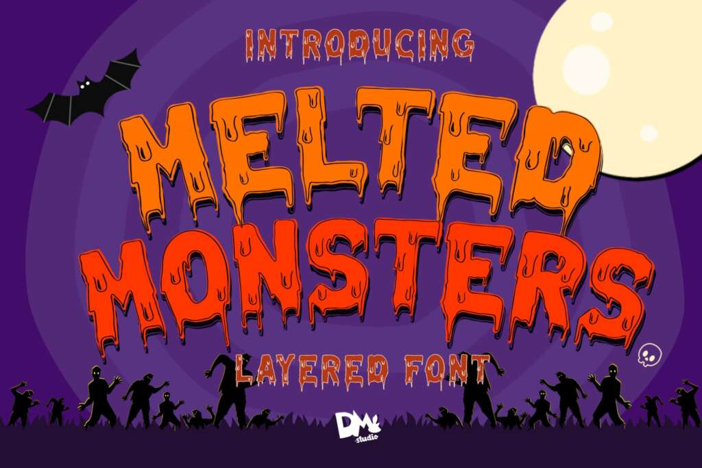 Melted Monster - Halloween Pack Layered Font