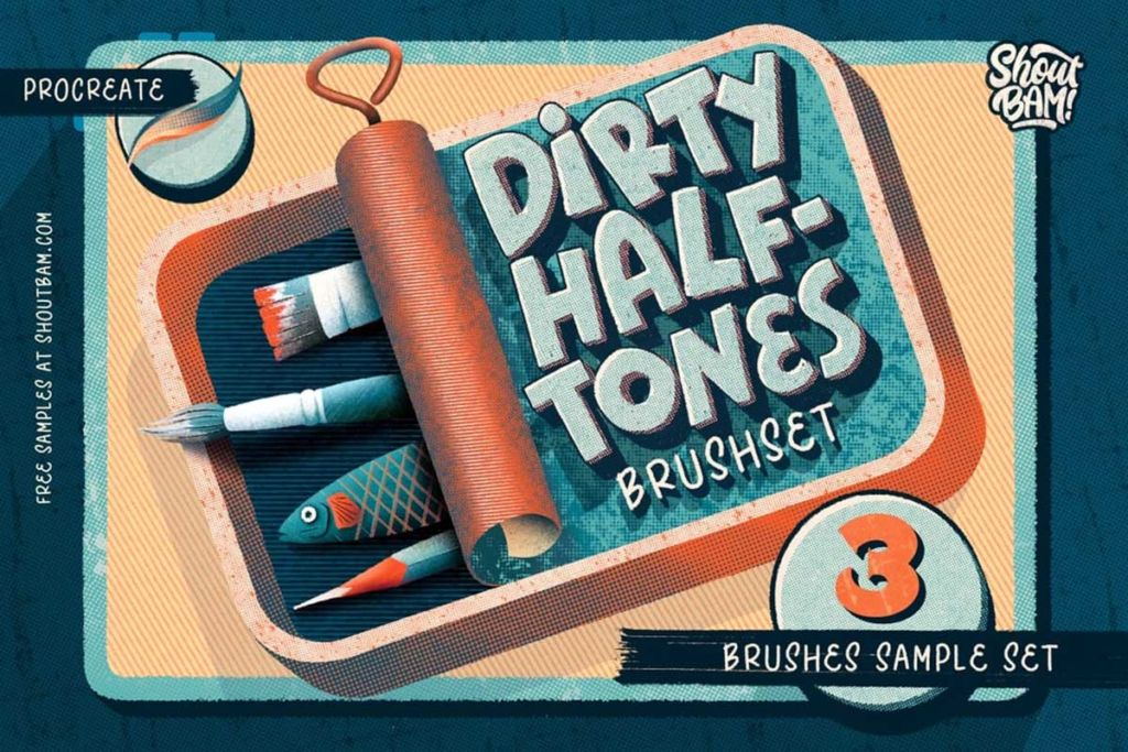 Dirty Halftones Brush Sample Set