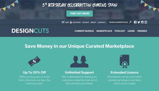 無料素材やセールも!Design Cuts(デザインカッツ)英語サイト5周年イベントに要注目