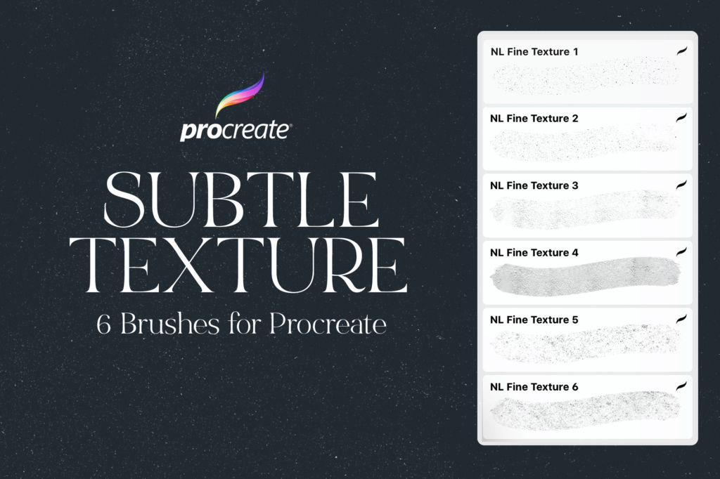 6 PROCREATE TEXTURE BRUSHES