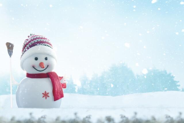 クリスマスの雪だるま