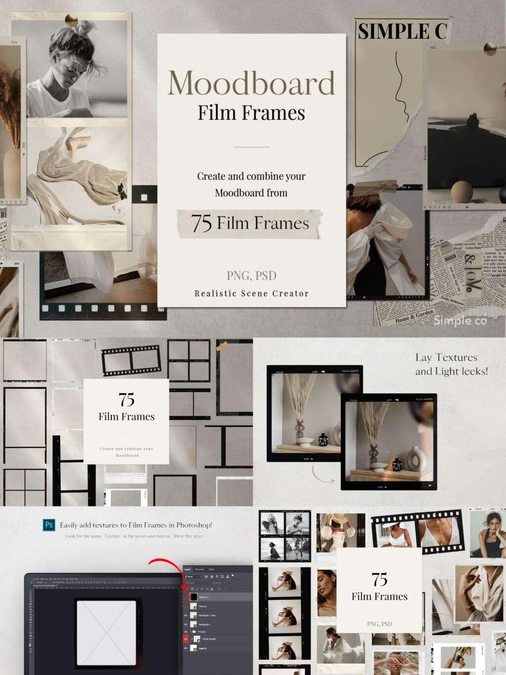 75 Film Frames Moodboard
