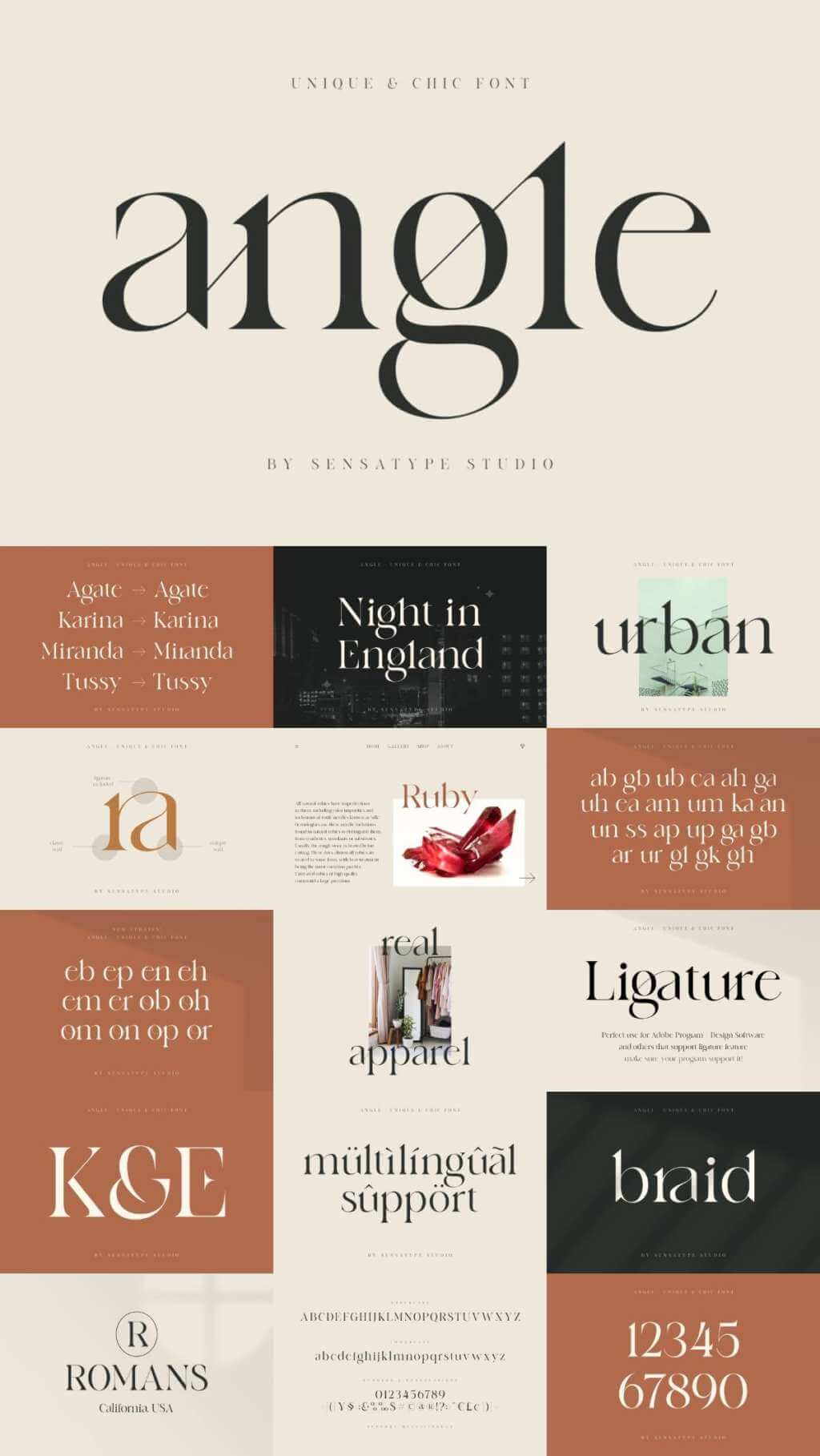 ANGLE – UNIQUE & CHIC FONT