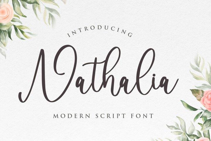 Nathalia - Handwritten Font