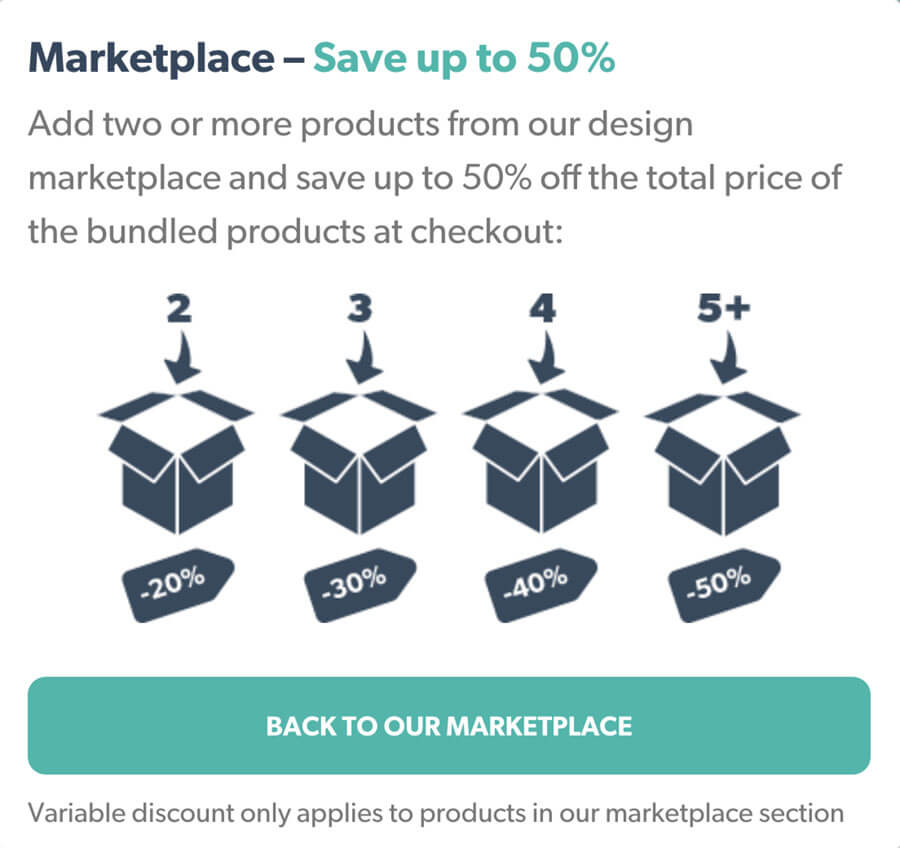 Marketplace – Save up to 50%