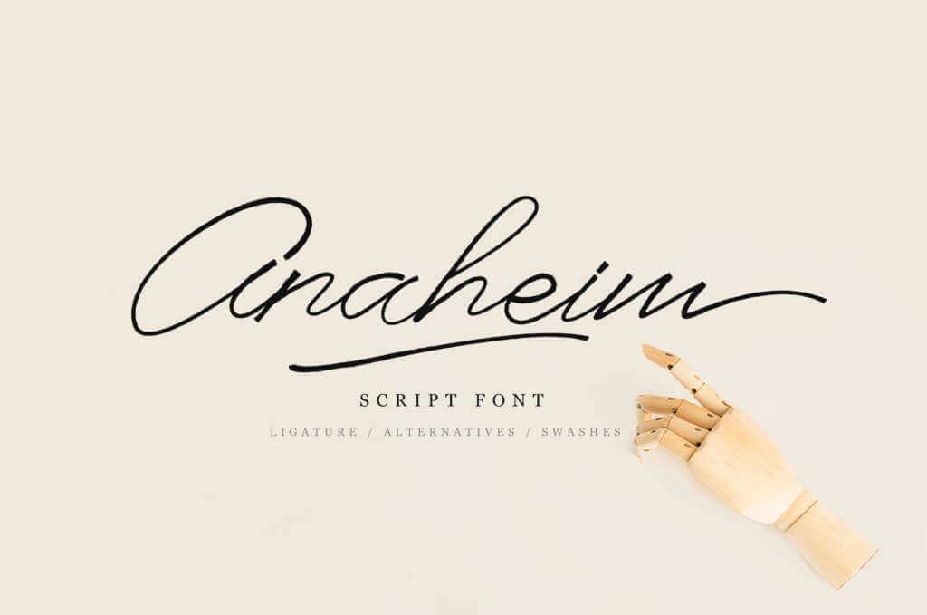 ANAHEIM SCRIPT FONT