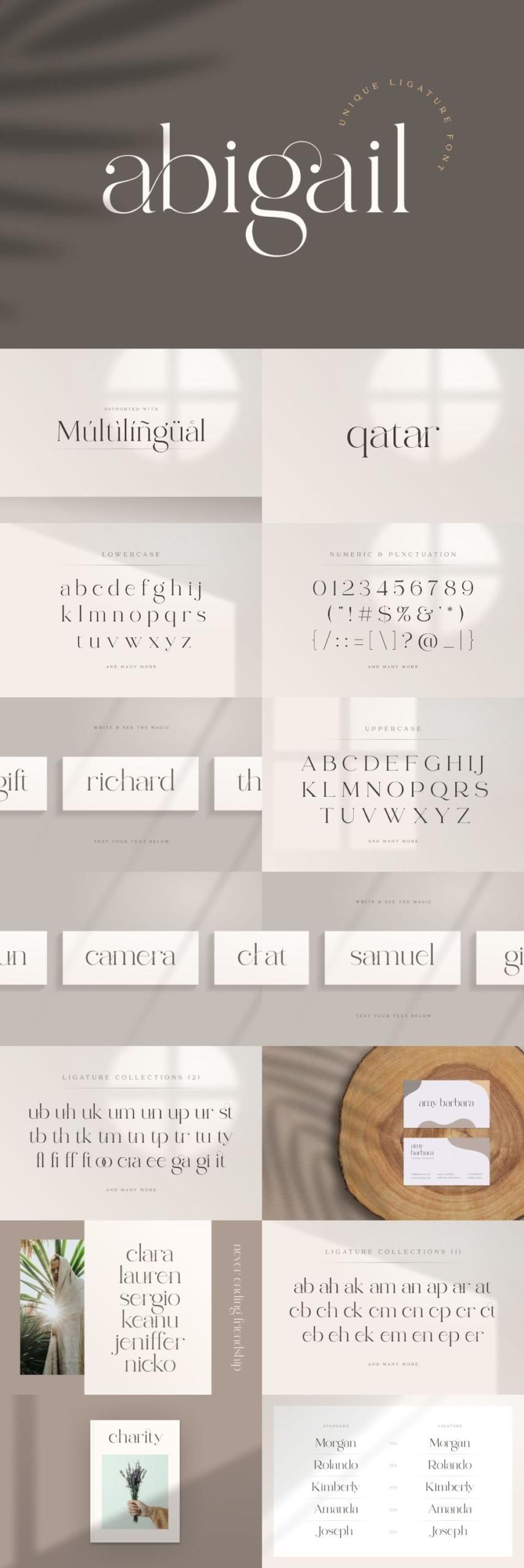Abigail – Unique Ligature Font