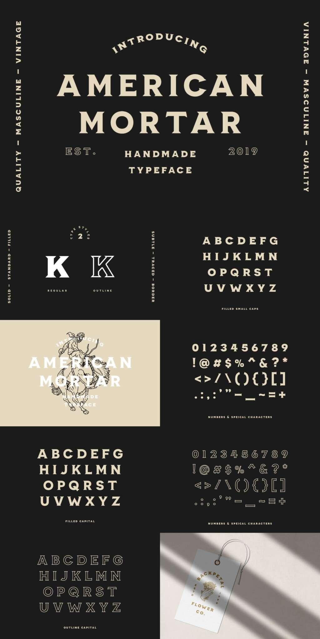 American Mortar – Vintage Font Family