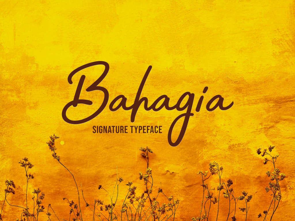 BAHAGIA SIGNATURE TYPEFACE