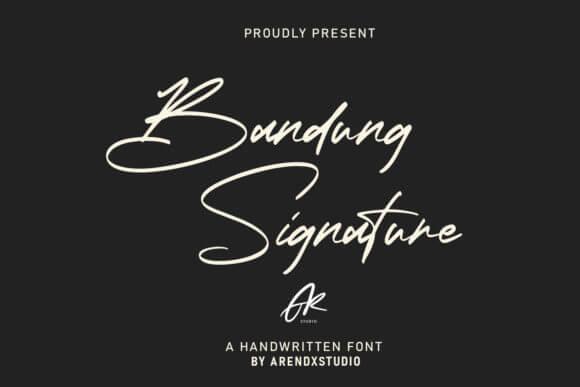 Bandung Signature Font