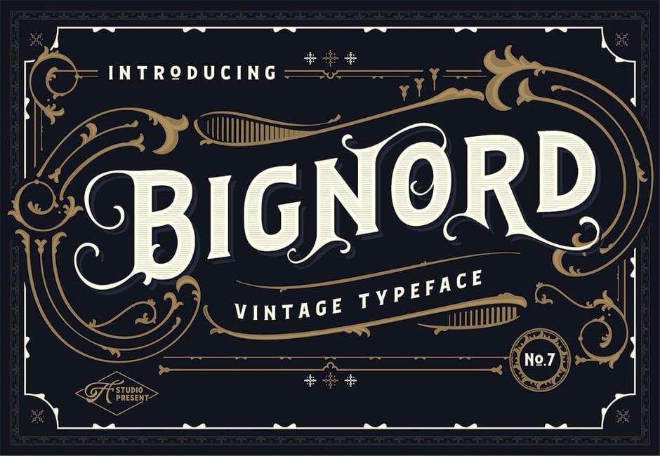 Bignord Typeface