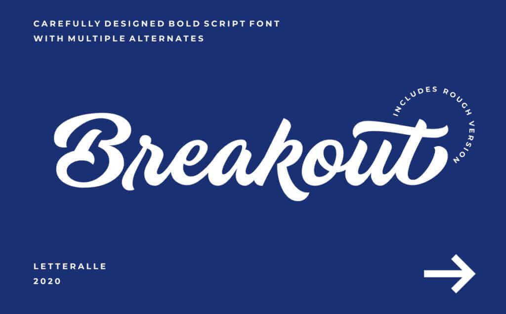 Breakout Bold Script Font