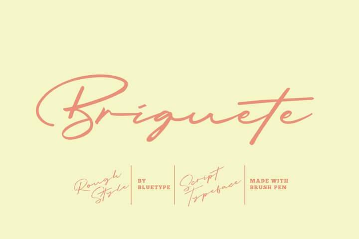 Briquete - Natural Brush Font