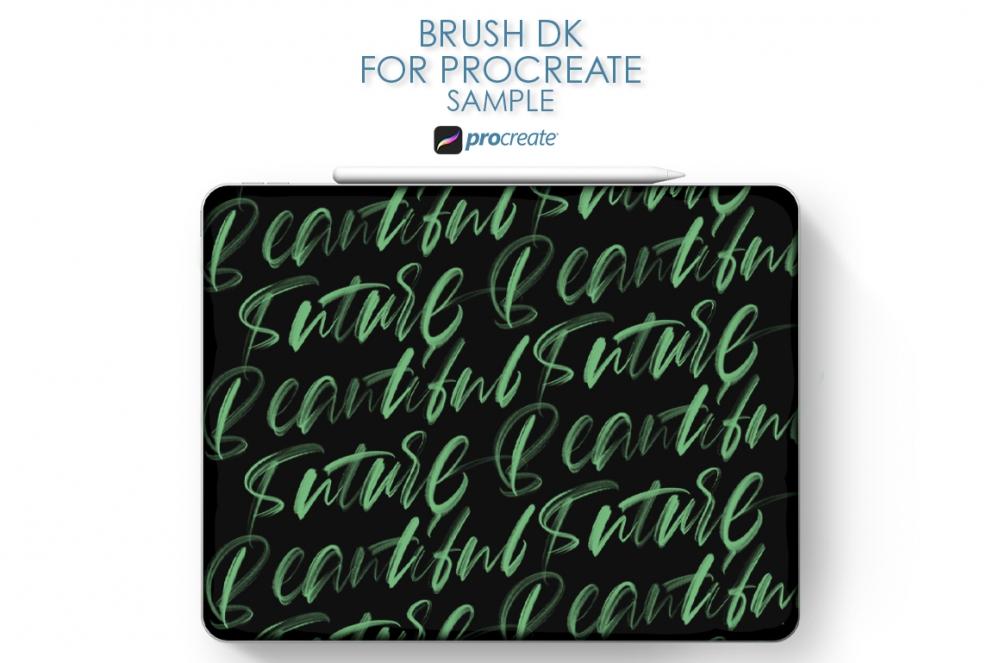 Free: Brush DK For Procreate Sample