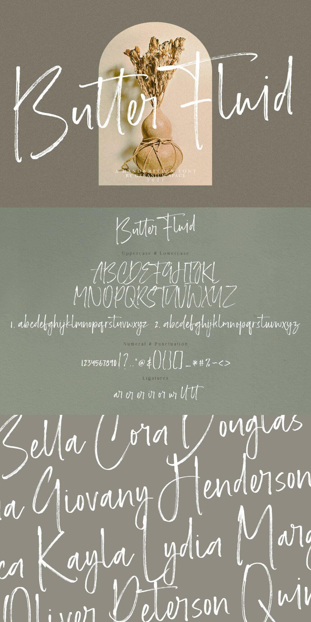 Butter Fluid – Handwritten Font