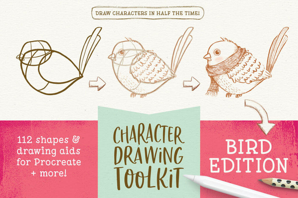 Character Drawing Toolkit – Bird Edition