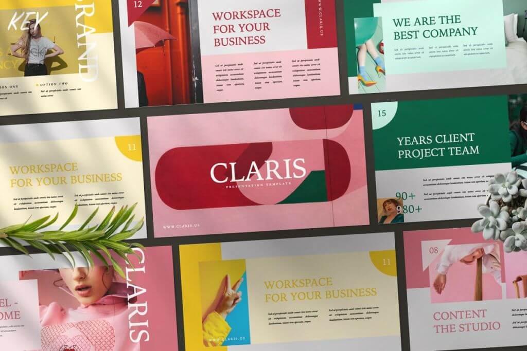 CLARIS Pastel Keynote Template