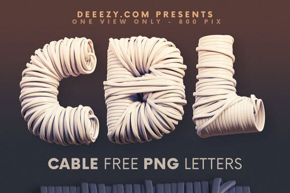 Cable - Free 3D Lettering