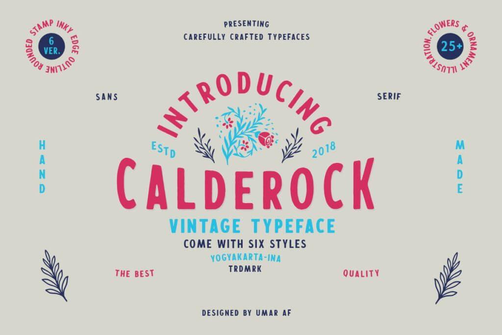 Calderock Typeface + Extras