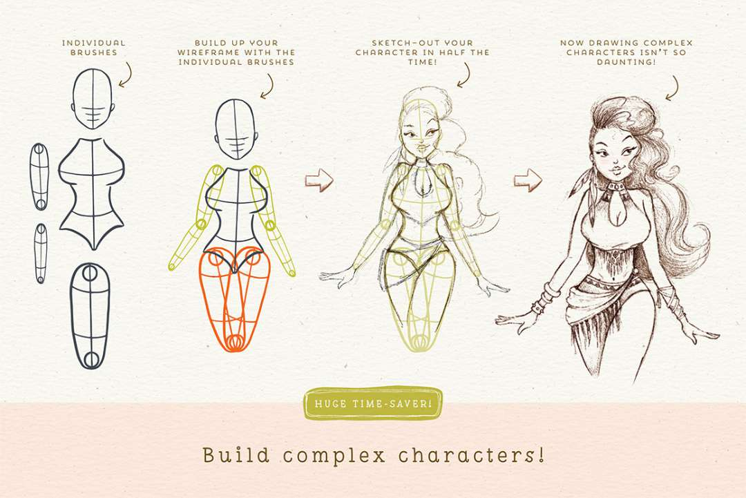 CHARACTER DRAWING TOOLKIT – PEOPLE EDITION