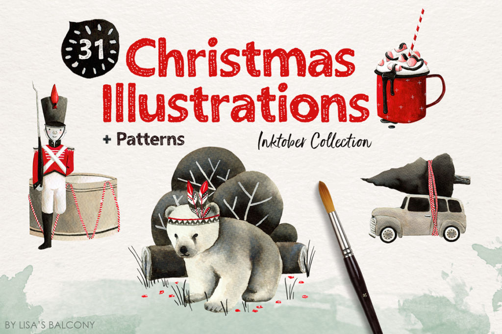 Christmas Illustrations – Inktober Collection