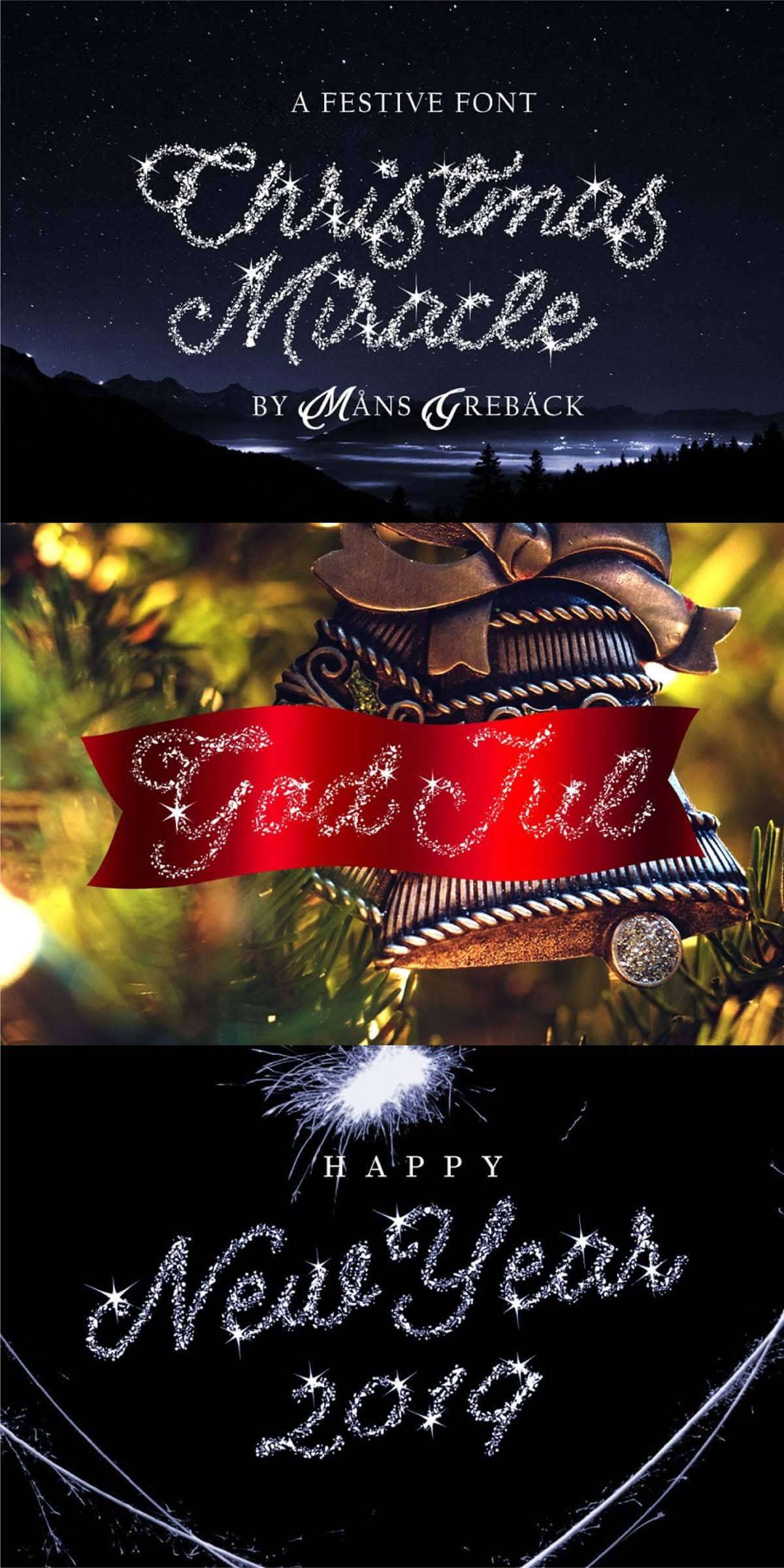 Christmas-Miracle font