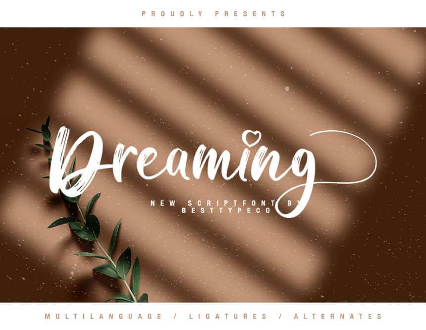 DREAMING - FREE TEXTURED SCRIPT FONT