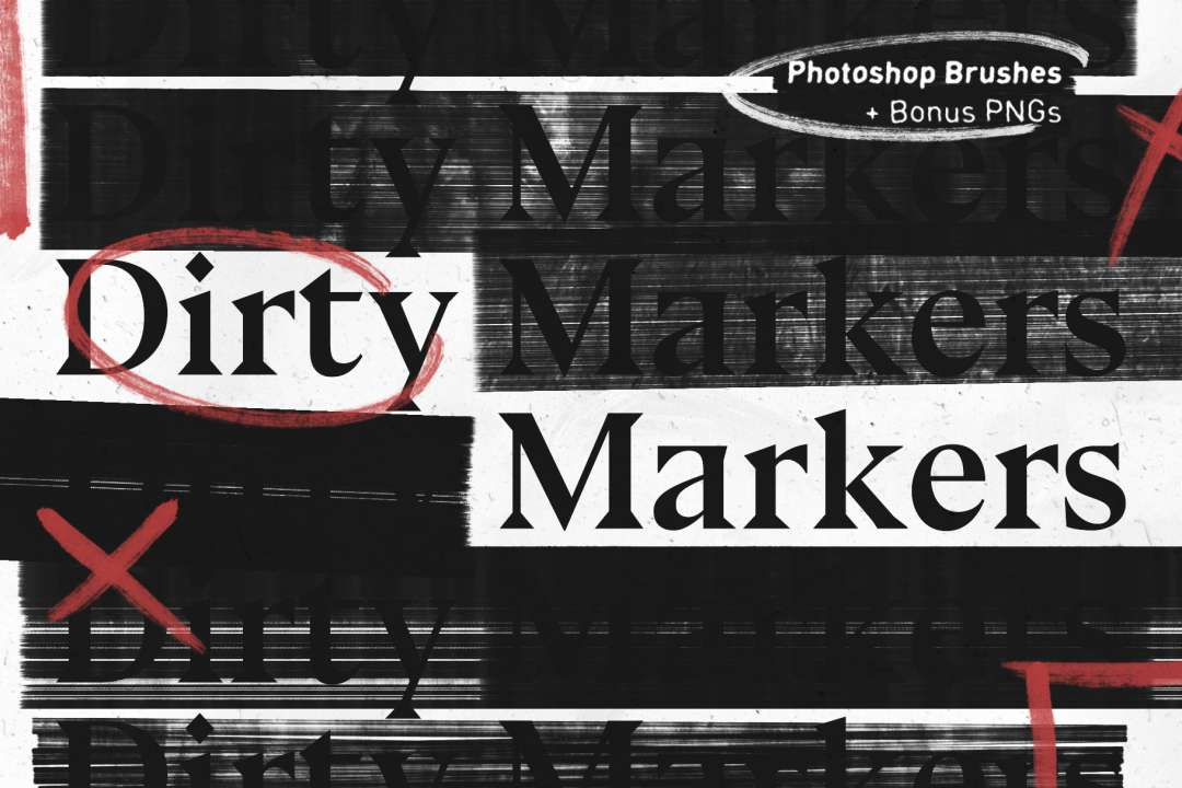 DIRTY MARKERS – PHOTOSHOP BRUSHES