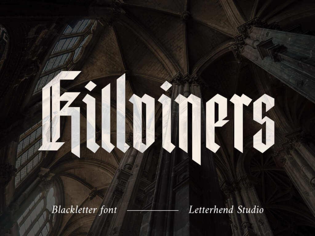 KILLVINERS BLACKLETTER FONT