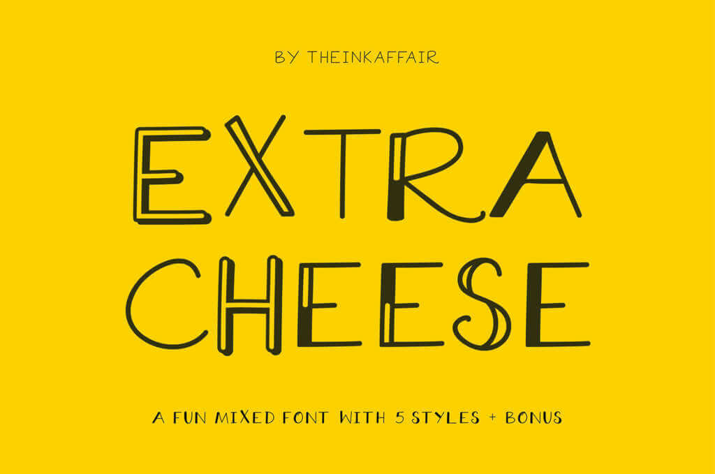 EXTRA CHEESE FONT COLLECTION