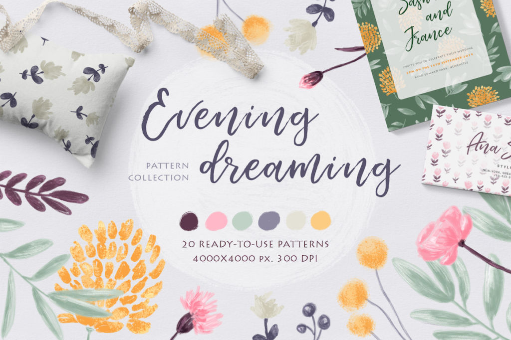 Evening Dreaming – Floral Pattern Collection