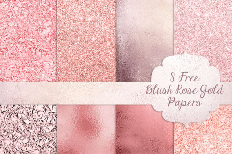 FREE Blush Rose Gold Textured Papers
