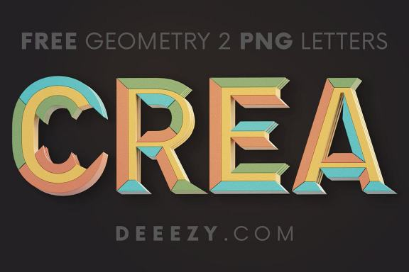 FREE Creative Geometry 3D Lettering 2