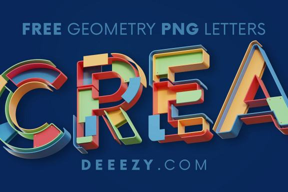 FREE Creative Geometry 3D Lettering