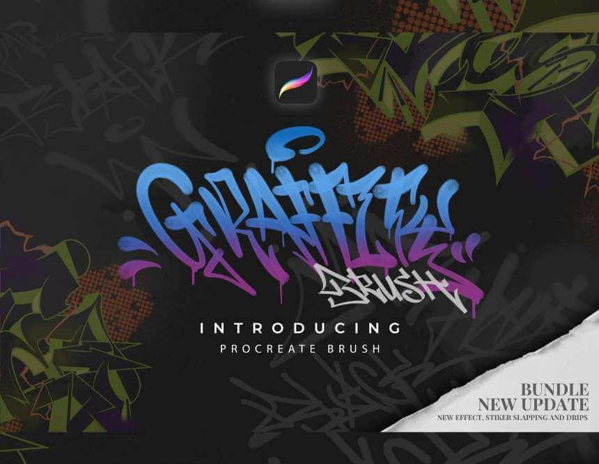 FREE PROCREATE GRAFFITI BRUSH PACK