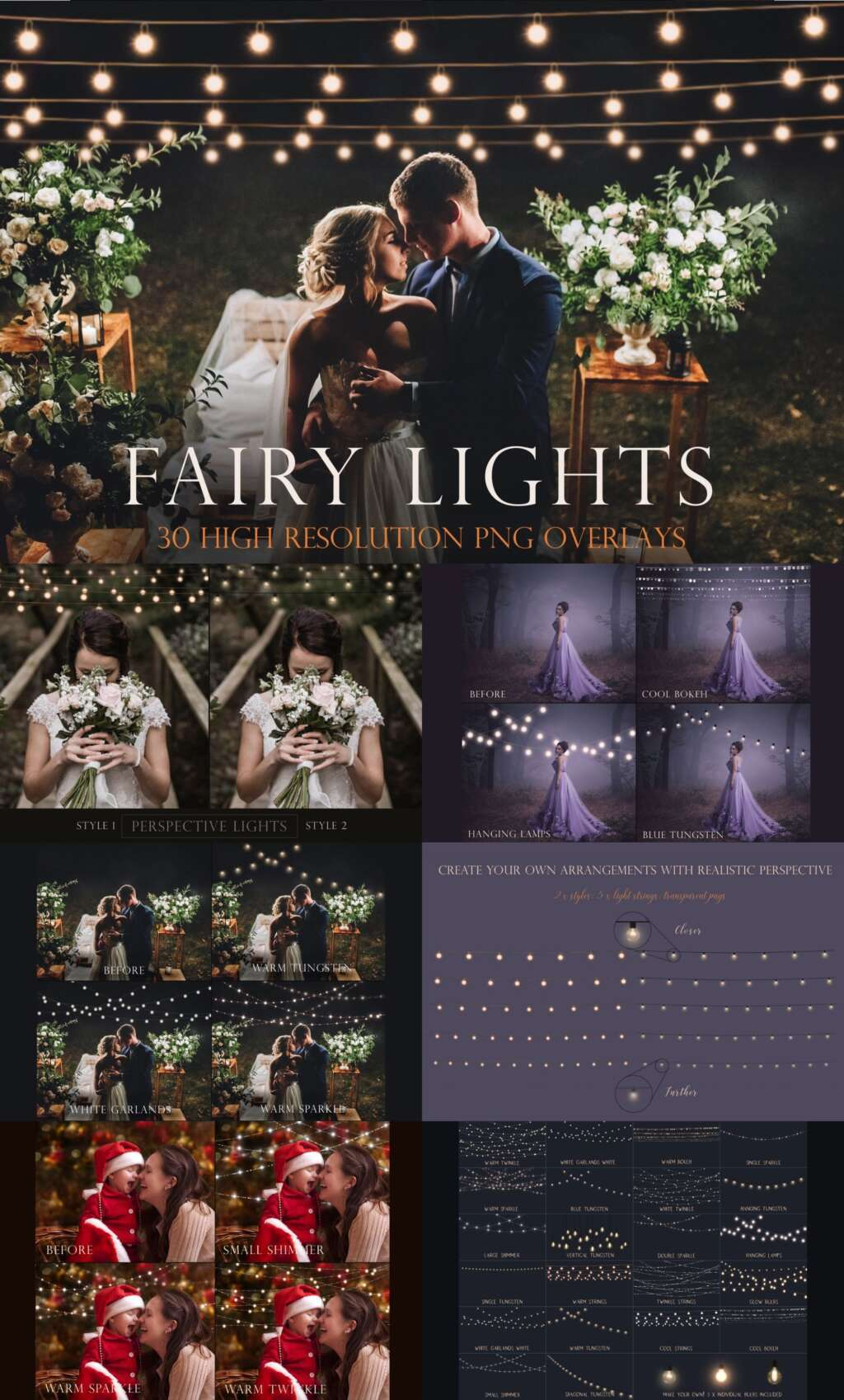 Fairy Light Photography Overlays