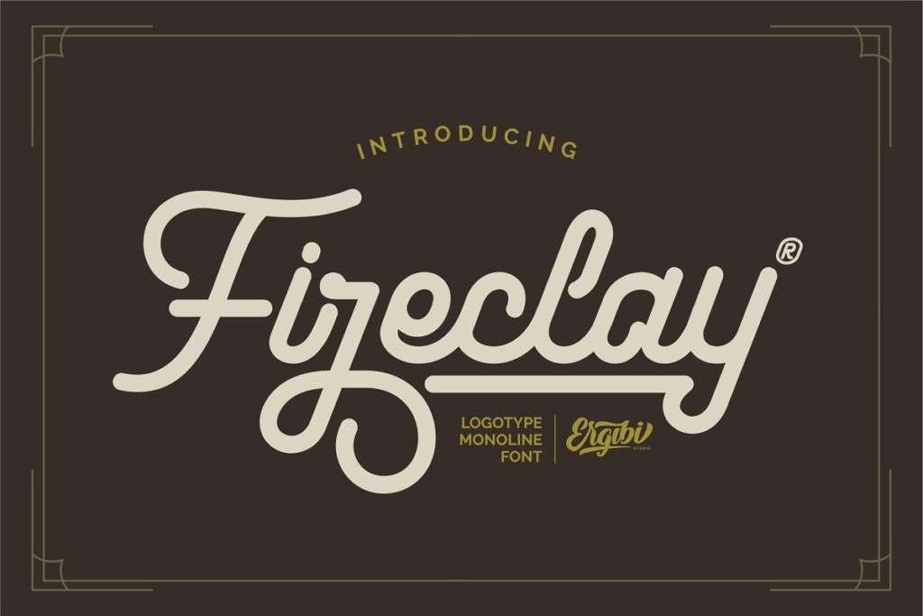 Fireclay - Logotype Monoline