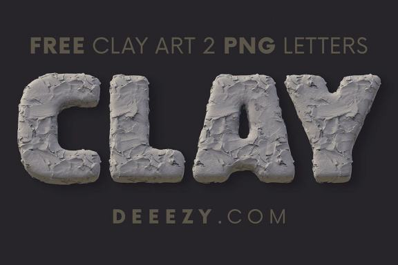 Free Clay Art 3D Lettering 2
