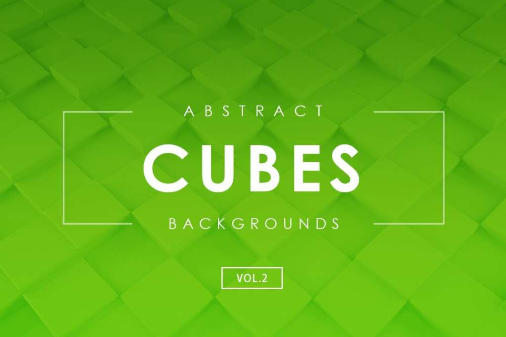 Free Cubes Abstract Backgrounds Vol. 2