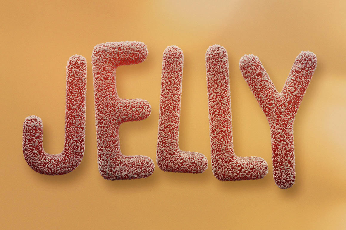 Jelly Candy 3D Lettering