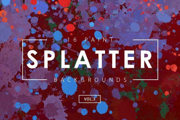 Free Paint Splatter Backgrounds 3