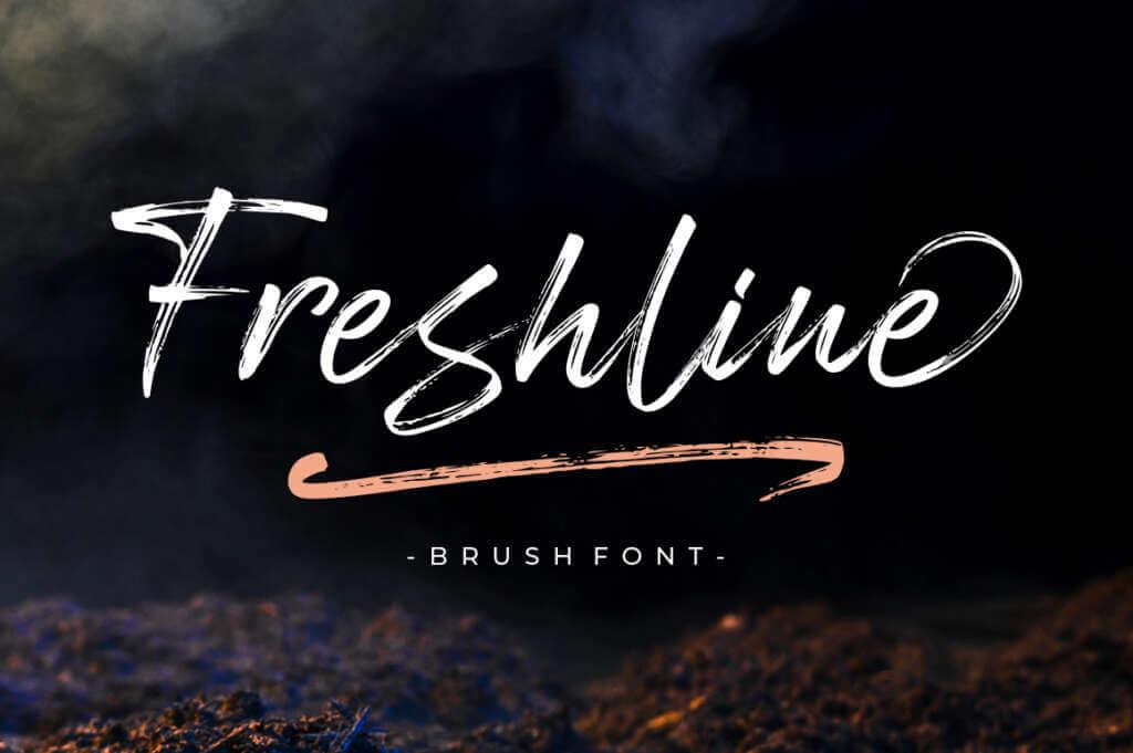 Freshline Brush Font